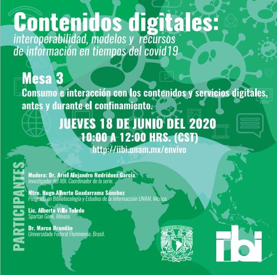 Mesa 3 Conferencia Contenido Digitales: interoperabilidad, modelos y recursos de información en tiempos de Covid19 [488]