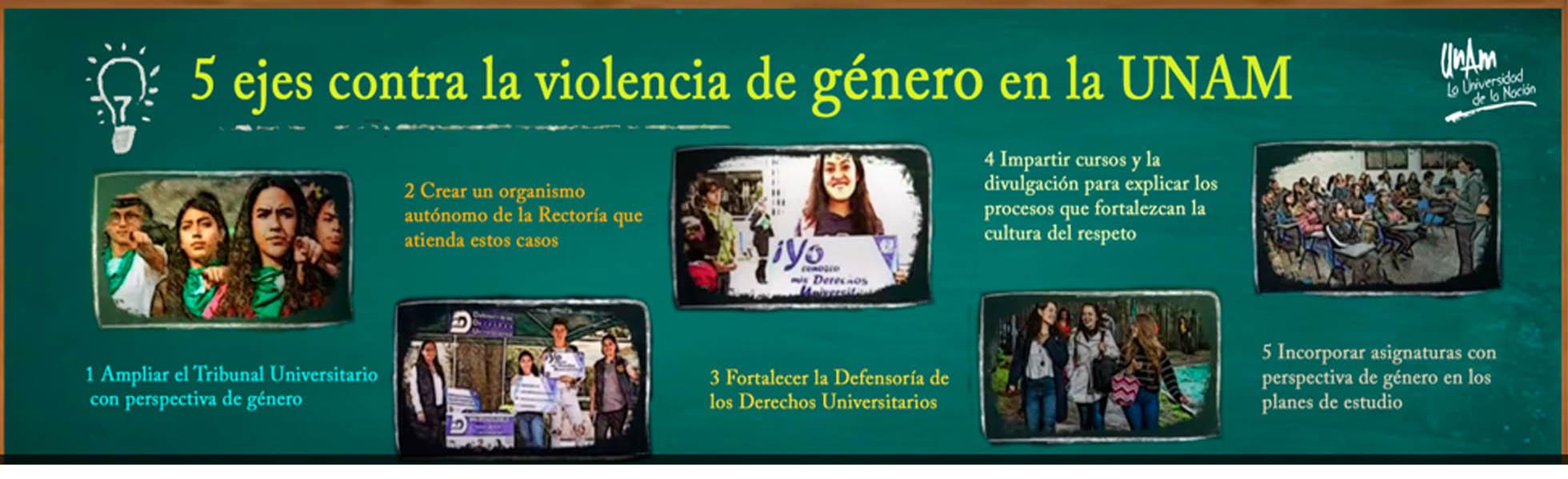 5 ejes vs Violencia de Género