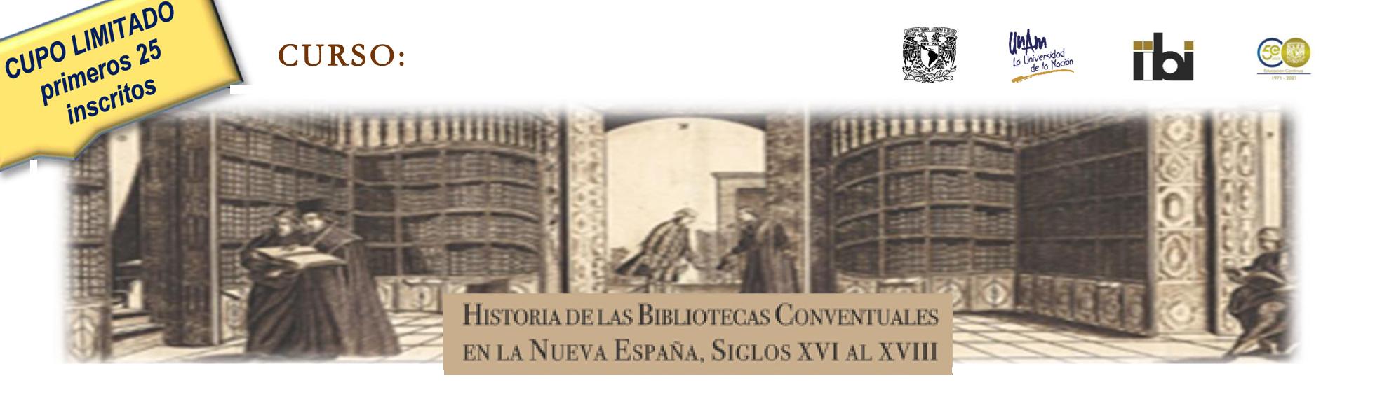 Historia de las bibliotecas conventuales en la Nueva España, Siglos XVI al XVIII