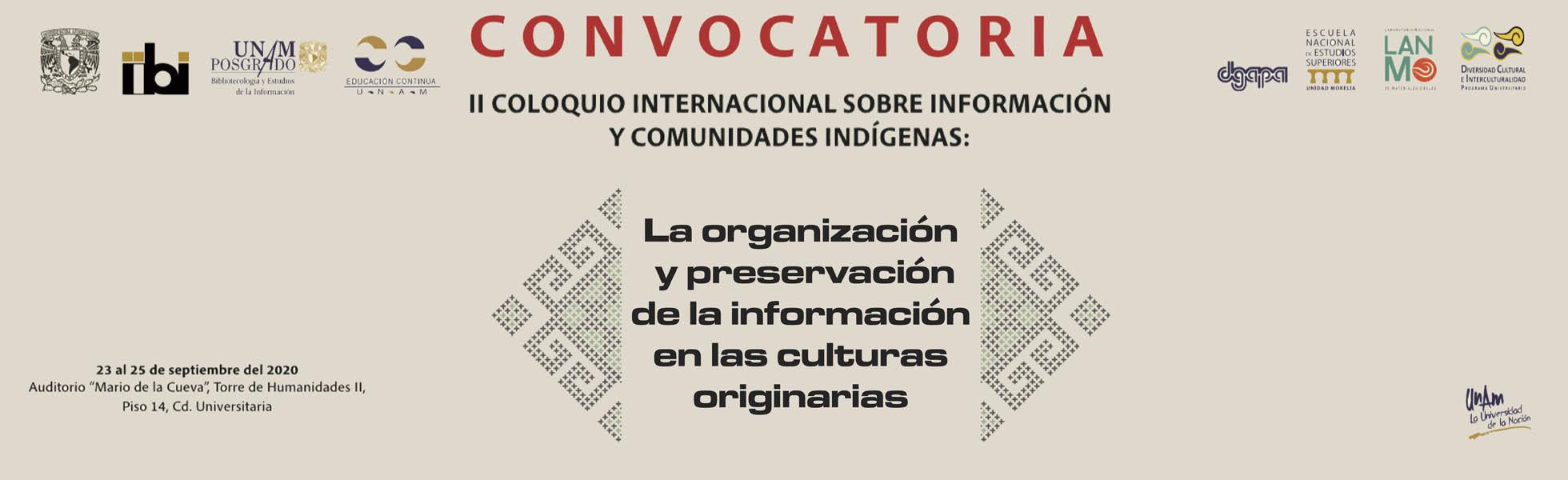 CONVOCATORIA Coloquio Internacional sobre Información y Comunidades Indígenas