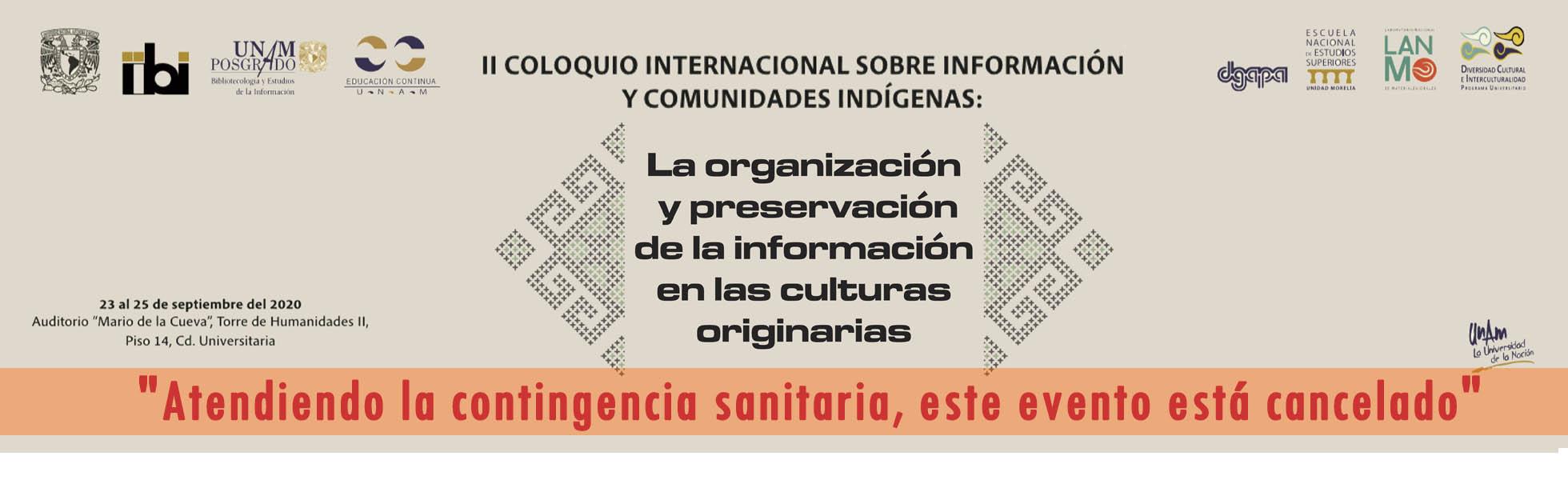 COLOQUIO INTERNACIONAL SOBRE INFORMACIÓN Y COMUNIDADES INDÍGENAS