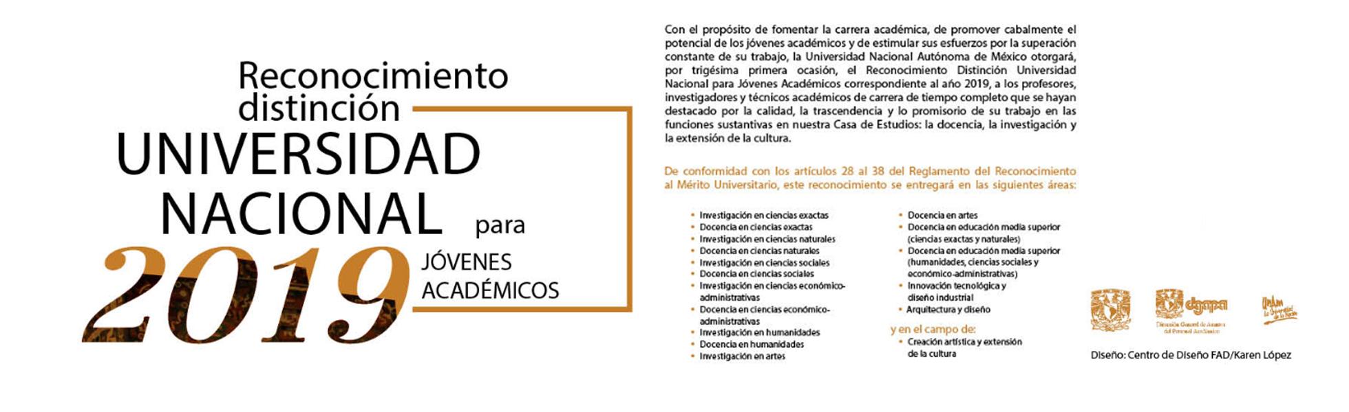 Distinción Universidad Nacional 2019
