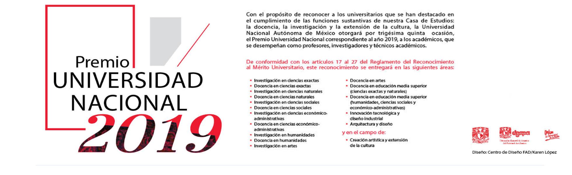 Premio Universidad Nacional 2019